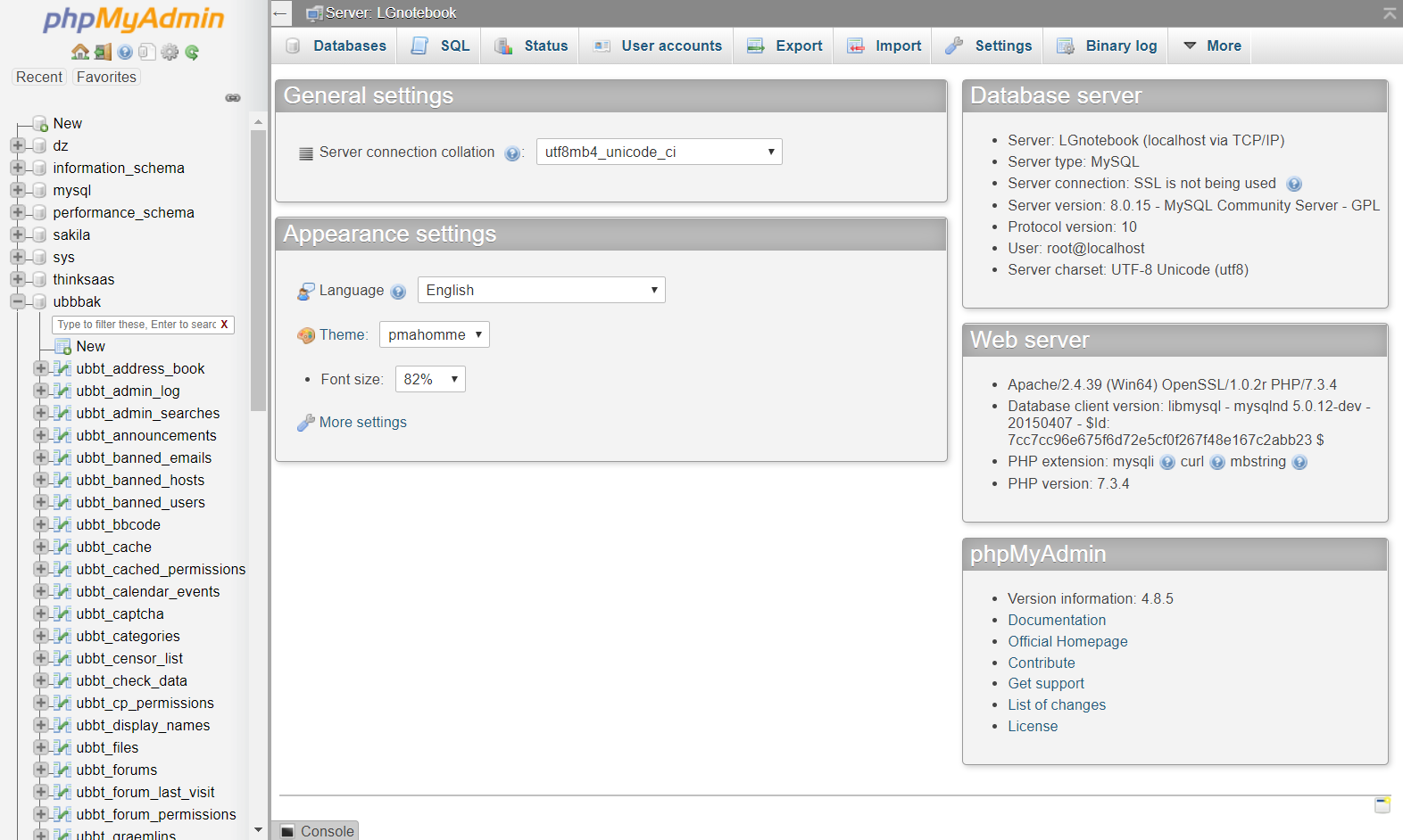 FireShot Pro Screen Capture #007 - 'localhost _ LGnotebook I phpMyAdmin 4_8_5' - localhost.png