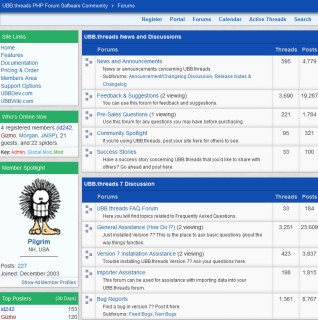 Wwwthreads, w3t, ultimatebb, php, discussion boards, community software, portal, ubb, ultimate bulletin board